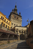Clock Tower-Sighisoara,Romania Stock Photo