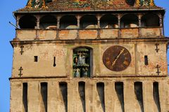 Clock Tower in Sighisoara, Romania Stock Image