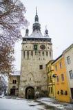 Clock tower in Sighisoara, Romania Stock Photos