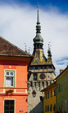 Clock Tower in Sighisoara, Romania Stock Photo