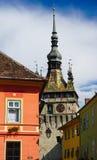 Clock Tower in Sighisoara, Romania Stock Photo