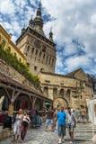 Clock tower, Sighisoara, Romania royalty free stock photo