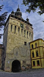 The clock tower in Sighisoara Royalty Free Stock Photos
