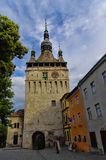 The clock tower in Sighisoara Stock Photos