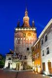 Clock Tower in Sighisoara, Transylvania royalty free stock photography