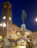 Senigallia clock tower. The clock tower sited in the Senigallia`s historical center in central Italy stock images