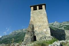 Skanderbeg Castle, Kruja. The Clock Tower of Skanderbeg Castle in Kruja, town-symbol of albanian resistance against the Ottomans empire royalty free stock image