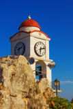 Clock Tower in Skiathos Town, Greece Royalty Free Stock Photos