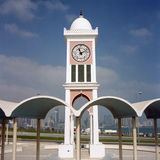 Clock tower and skyline Stock Images