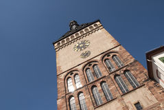 The Clock Tower of Speyer. Construction from the middle age stock image