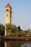 The Clock Tower in Spokane, Wa Stock Images
