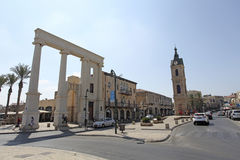 Clock Tower square in Old Yaffo, Israel Royalty Free Stock Image
