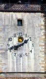 Clock tower of St. James, Jihlava, Czech Republic Stock Image