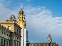 Clock tower of St.Kajetan church in Munich royalty free stock photos