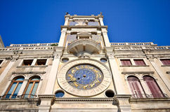 Clock Tower in St Mark's Square, Venice Stock Photography