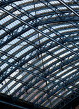 Clock tower St Pancras through roof Royalty Free Stock Image
