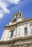 Clock tower in St Pauls Cathedral, London, England royalty free stock photos