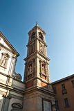 Clock-tower of St. Stephen church in Milan Stock Photos