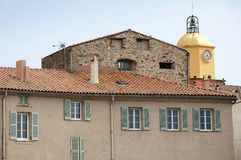 Clock Tower in St Tropez Stock Image