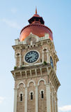 Clock tower of Sultan Abdul Samad building near Mederka Square Stock Photo