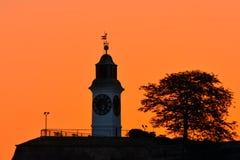 Clock tower at sunrise Royalty Free Stock Image