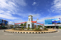 The clock tower of Surin Circle. Stock Image