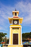 Clock tower Three Cultures,thai. Stock Photos