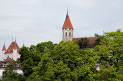 Clock tower in Thun Stock Image