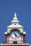 Clock Tower. Clock on top of white tower, Bangkok, Thailand Stock Image