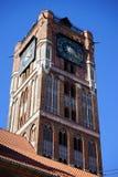 Clock tower in Torunj Stock Image