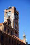 Clock tower in Torunj Stock Photography
