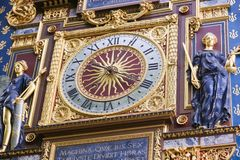 The clock tower (Tour de l'Horloge) - Paris Stock Photography