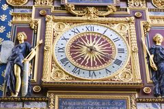 The clock tower (Tour de l'Horloge) - Paris Stock Photo