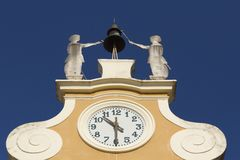 Clock Tower at Town Hall. (Bardolino, Italy) Royalty Free Stock Images
