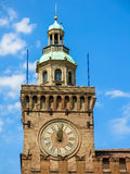 Clock tower of town hall of Bologna, Italy Royalty Free Stock Photography