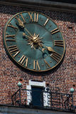 The clock. Tower of the town hall in Krakow's Market Royalty Free Stock Photography