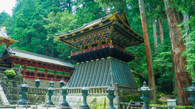 Clock Tower. Traditional Japanese clock tower in Nikko royalty free stock image