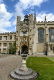 Clock Tower of Trinity College, Cambridge Royalty Free Stock Photos