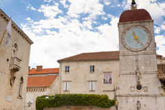 Clock Tower - Trogir, Croatia. Royalty Free Stock Photography