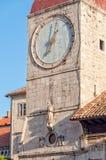 Clock Tower - Trogir Stock Image