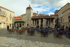 Clock tower in Trogir Royalty Free Stock Image