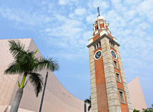 Clock tower in Tsim Sha Tsui Stock Images