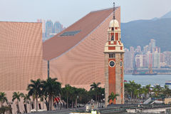 Clock tower in Tsim Sha Tsui Stock Photos