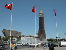 The Clock Tower, Tunis City Center Stock Images