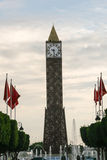 Clock Tower in Tunis, Tunisia Royalty Free Stock Image