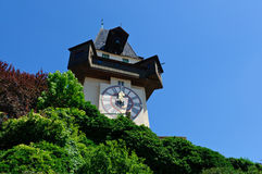 Clock Tower (Uhrturm) in Schlossberg, Graz, Austria Royalty Free Stock Image