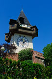 Clock Tower (Uhrturm) in Schlossberg, Graz, Austria Royalty Free Stock Photo