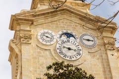 Clock tower in Valletta, Malta Royalty Free Stock Photo