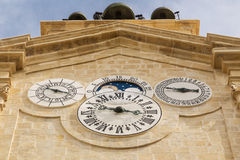 Clock tower in Valletta, Malta Royalty Free Stock Photography