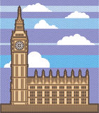 Clock Tower vector. Illustration clip-art eps file Royalty Free Stock Photography